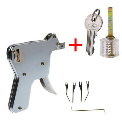 Locksmith Manual Hand Gun Strong head Lock Pick Door Opener Bump Set Repair Tool