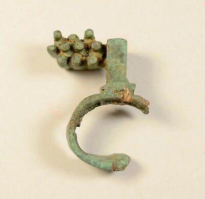 ANCIENT ROMAN BRONZE RING KEY 1st - 3rd Century AD