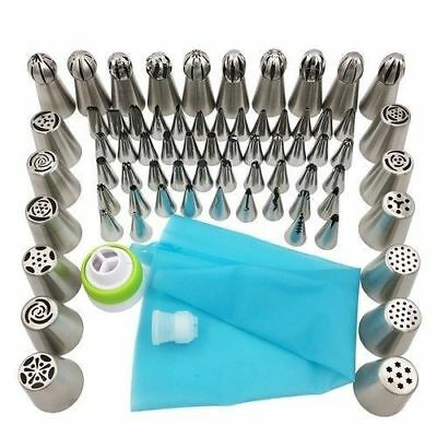 70Pcs Russian Tulip Nozzle Icing Piping Tips Baking Pastry Cake Decorating Tools