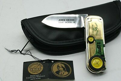 John Deere Franklin Mint 1948 Model B Tractor Collector Pocket Knife (Pg804)