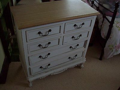 ANTIQUE STYLE 6 DRAWER CHEST OF DRAWERS 85cm HIGH 79cm WIDE 39cm DEEP
