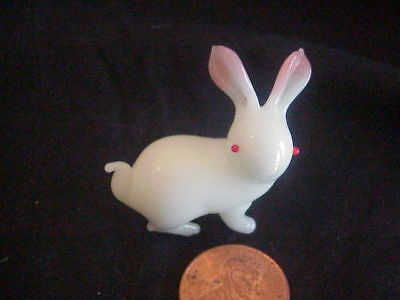 """Handblown glass miniature year of the rabbit  China 1 1/4"""" excellent"""