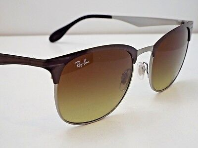 ed608a2f7c Authentic Ray-Ban RB 3538 188 13 Brown Brown Gradient Clubmaster Sunglasses   229