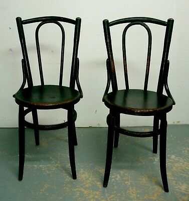 Antique Vintage Old Thonet Style 2 Chairs