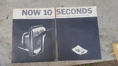 Now 10 Seconds -  Polaroid Land Film - Magazine Print 1961 Ad