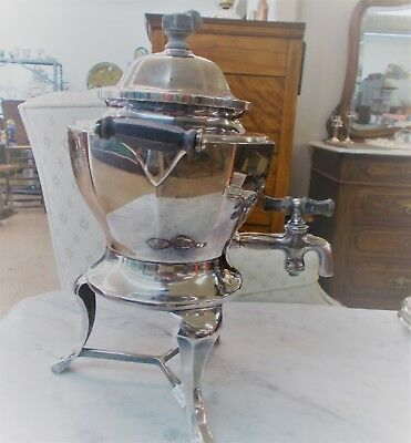 Vintage Silverplate  Electric Teapot  Pot  with tea bag built in