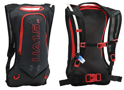 Under Armour UA Unisex Trail Hydratation 1.5L Backpack Black/Red LTE Running Out
