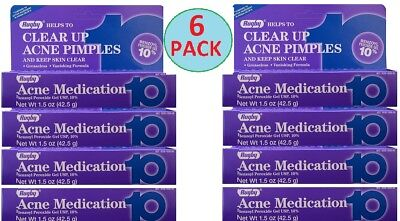 Benzoyl Peroxide 10% Acne Medication Generic OXY 10 Persa Gel 42.5 g 6 TUBES