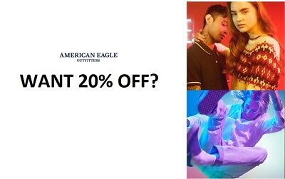 American Eagle Outfitter 20% Off Entire Purchase Coupon Exp 1/9 Dlvrd W/in 2 Hrs