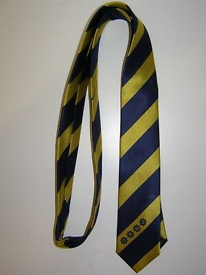 Corbata Boca Juniors Fashionable Very Slim Navy Tie New Without Tags