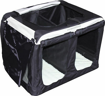 XLarge Lightweight Portable Fabric Soft Crate Travel Pet Kennel House for 2 dogs