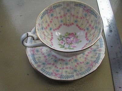 Queen Anne Royal Bridal Gown Collectible Tea Cup and Saucer Fine Bone China
