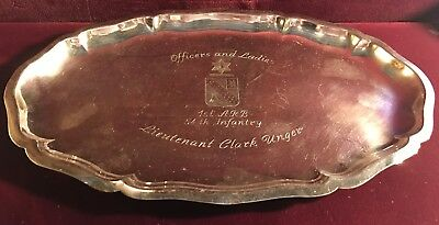 German Sterling Silver Oval Tray made by Gebruder Deyhle