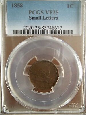 1858 Pcgs Vf25 Flying Eagle Cent(Small Letters)
