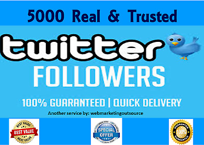 4000+ HIGH QUALITY TWITTER FOLLOWERS-INSTANT START-NO EGGS-GUARANTEE Life Time