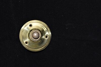 Vintage  Solid Brass Round Door Bell