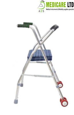 Dual Function Walking Stick with a Seat Mobility Disability Aid Walker