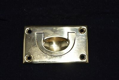 Vintage Solid Brass Drawer Pull