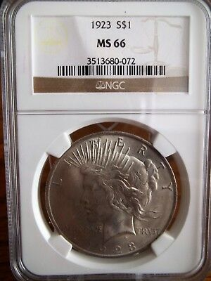 1923 Ngc Ms66 Peace Silver Dollar