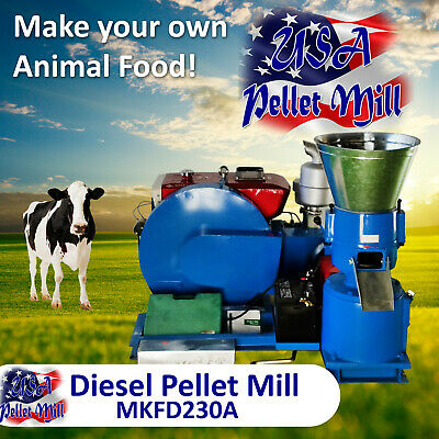 Diesel Pellet Mill For Cow's Food - MKFD230A - Free Shipping