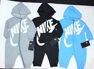 NIKE baby Boys Hooded Bodysuit 1 pc outfit 0/3 3/6 6/9 9/12 You Pick NEW