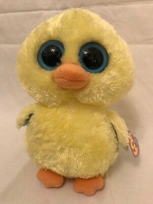 "Ty Beanie Boo's Collection GOLDIE the Chick 9"" With Tags! Solid Blue Eyes"