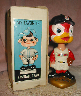 Vintage St Louis Cardinals Baseball Bobble Head BobbleHead 1962 Japan S.S. Corp