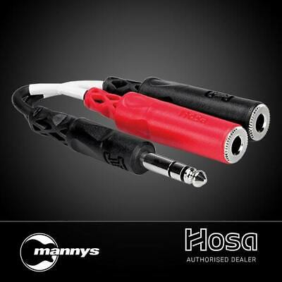 """Hosa YPP-117 1/4"""" TRS(M) to Dual 1/4"""" TS(F) Stereo Breakout Adaptor Cable"""