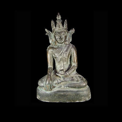 A Burmese Arakan bronze statue of the seated Buddha 1430-1784 A.D x3651