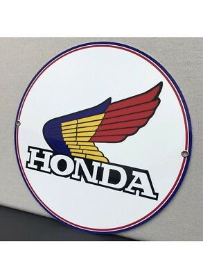 Honda Motorcycle Vintage Logo Reproduction Garage Sign