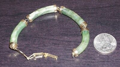 Vintage Antique Chinese Jade Gold Bracelet DAMAGED  A9