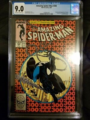 Amazing Spider-Man #300 Todd McFarlane Cover - CGC 9.0 VF/NM - 1st App VENOM MOV