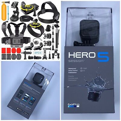 Brand New GoPro Hero5 Session Camera CHDHS-501 + New Lot of Accessories
