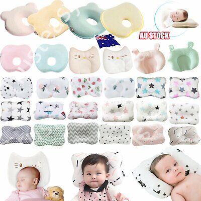 Baby Cot Pillow Preventing Flat Head Neck Syndrome for newborn Girl Boy Safe AU