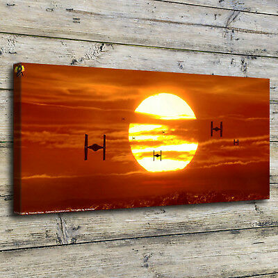 Sunset Star Wars Painting HD Print on Canvas Home Decor Room Wall Art Picture