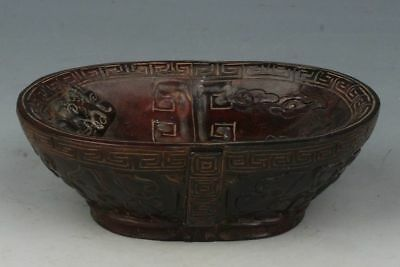 Chinese Exquisite ox Horn Handmade bowl