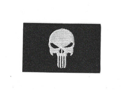 PUNISHER BLACK FLAG Iron on / Sew on Patch Embroidered Badge Motif Comic PT282