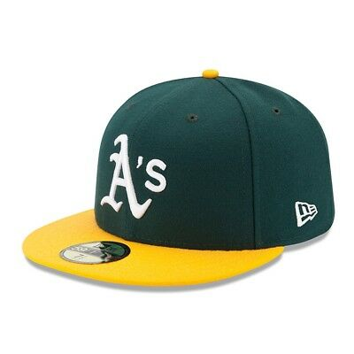 021a7cc039155 New Era Oakland Athletics 2017 HOME 59Fifty Fitted Hat (Green Yellow) MLB  Cap