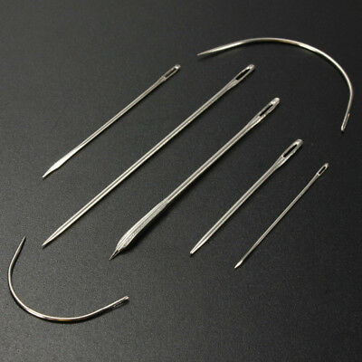 7pcs Repair Needles For Carpet Leather Canvas Curved Upholstery Sewing Tools Kit