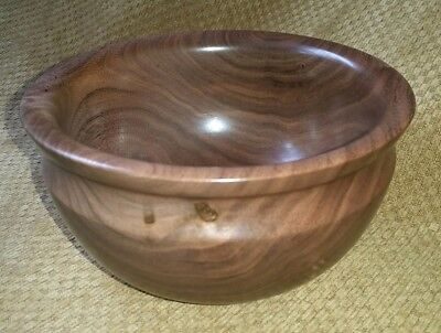 Dovecote Woodworking black walnut wood decorative hand turned bowl