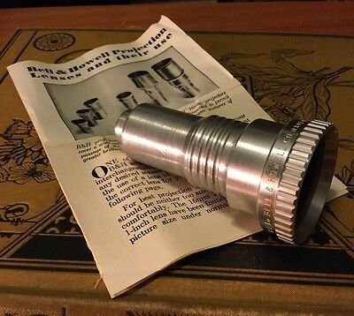 """Bell And Howell 16mm Super Proval 2"""" f/1.6 Projector Lens With Manual"""
