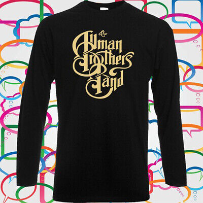 THE ALLMAN BROTHERS Blues Rock Band Long Sleeve Black T-Shirt Size S to 3XL
