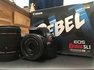 Canon EOS Rebel SL1 EOS 100D 18.0 MP Digital SLR Camera - Black (Kit w/ EF-S IS