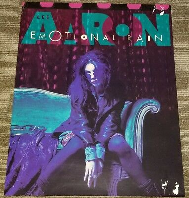 Rare record company exclusive Lee Aaron - Emotional Rain 24x30.5 poster