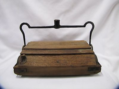 Antique Rug Sweeper Wooden Floor Sweeper Wood and Metal