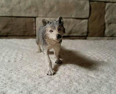 Papo Grey Wolf Wild Forest Animal Figure Model Nature toy