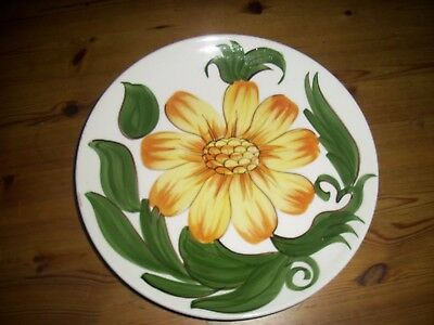 Vintage Signed Wade England Royal Victoria Pottery Sunflower Plate
