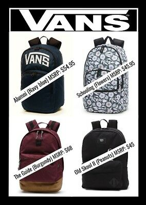 VANS OFF THE Wall Backpacks School Bag (New) $34.95 | PicClick