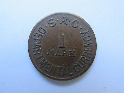 S A G Token South Australian Government 1 Mark Departmental Currency Scarce Ef