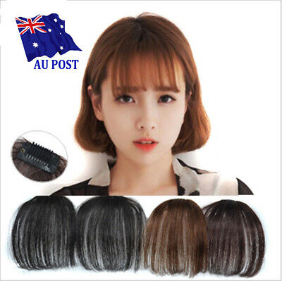 Cute Short Neat Bangs Clip on Front Neat Bang Fringe Clip In Hair Extensions SN